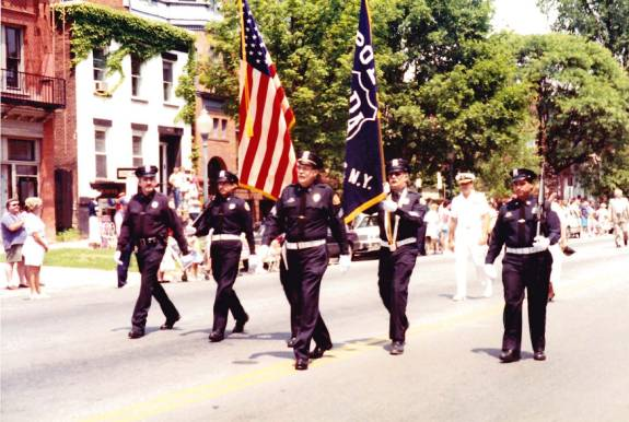 Honor guard parade in 1992