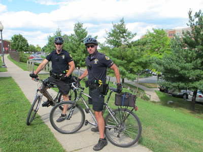 2 officers of bikes