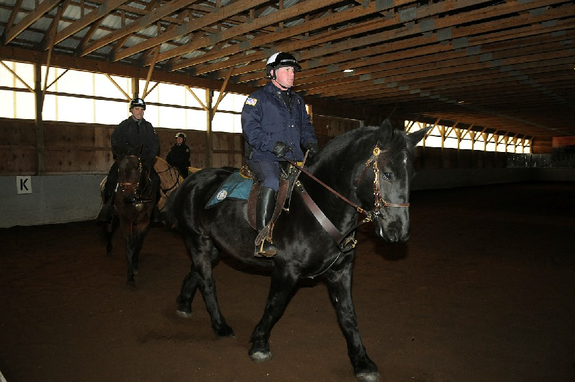 Rick Gargiulo riding a black horse