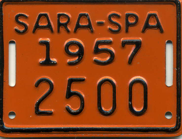 Bicycle Registration tag